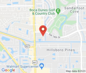 Google map image of location Sandalfoot S, Boca Raton, FL 33428, USA